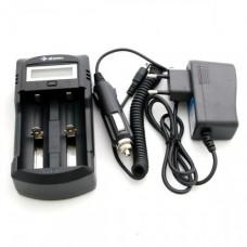 CARICABATTERIE Efan WF1 LCD 2-bay per batterie Li-ion/IMR/AA/AAA